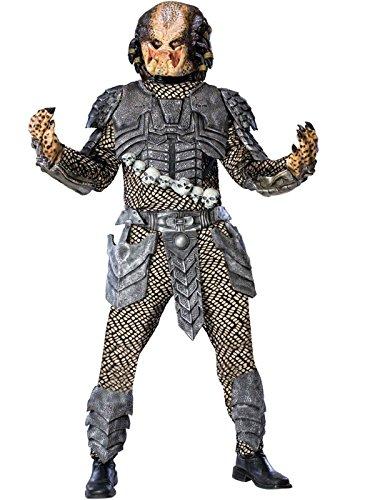 Aliens Vs Predator Deluxe Predator Costume, Black, Standard Size (Predator Deluxe Head)