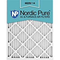 Nordic Pure 20x25x1M14-6 Pleated AC Furnace Air Filter, Box of 6