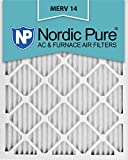 Nordic Pure 20x25x1M14-2 MERV 14 AC Furnace Filter 20x25x1 Pleated Merv 14 AC Furnace Filters Qty 2