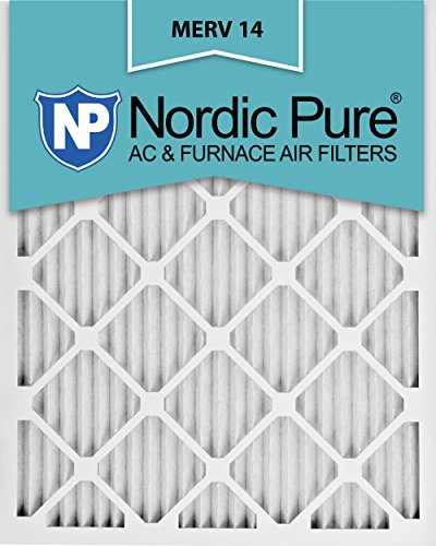 Nordic Pure 12x24x1M14-2 MERV 14 AC Furnace Filter 12x24x1 Pleated Merv 14 AC Furnace Filters Qty 2