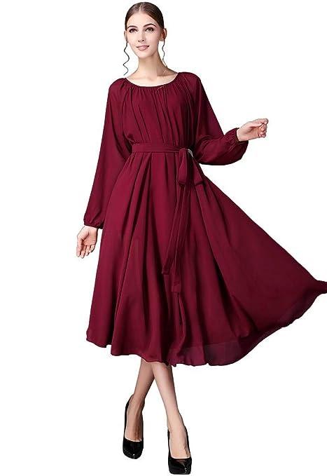 时尚百变雪纺连衣裙显高显瘦,穿出名媛好气质