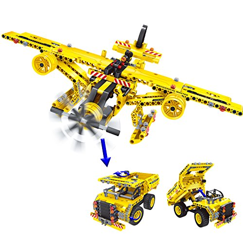 Gili Building Blocks Toy Technic 2 in 1 Dump Truck Engineering Construction Set Educational for Kids
