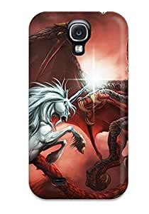 For Galaxy Case, High Quality Dragon Vs Unicorn For Galaxy S4 Cover Cases