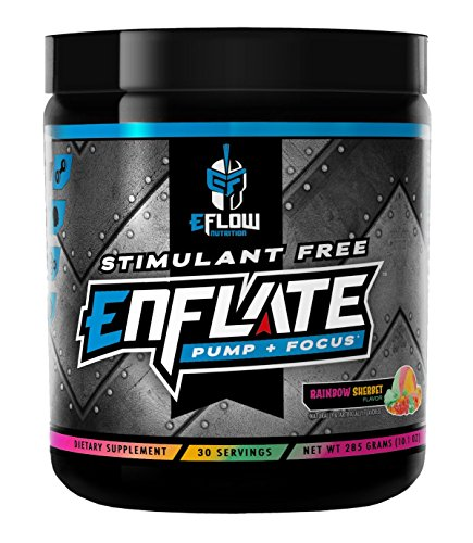 eFlow Nutrition ENFLATE Stimulant Free Pump Focus preworkout Rainbow Sherbet
