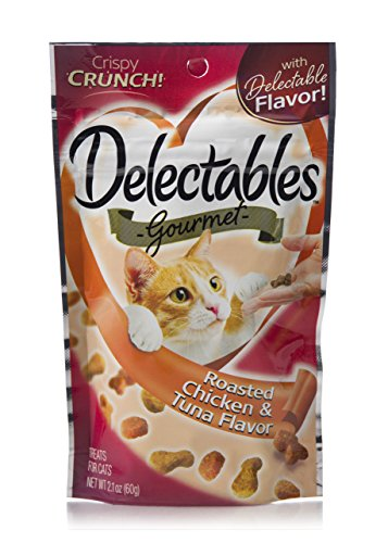 HARTZ Delectables Gourmet Crunchy Cat Treats - Roasted Chicken & Tuna