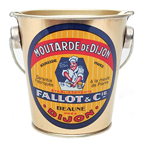 Edmond Fallot Dijon Mustard Tin Pail - 15.8 oz (12 Pack) by Edmond Fallot