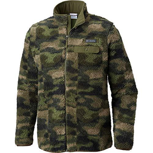 Jackets Columbia Camo (Columbia Men's Mountain Side Heavyweight Fleece Full Zip Top, Peat Moss Camo, X-Large)