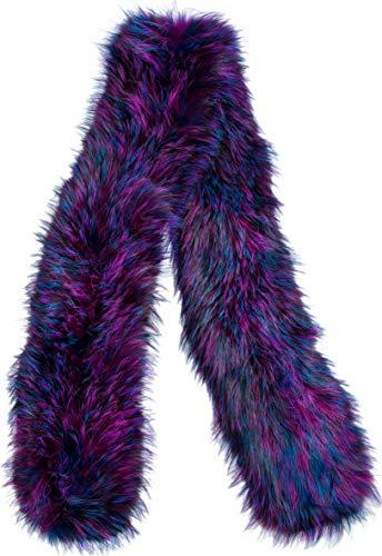 - Knitted Silver Fox Fur Scarf
