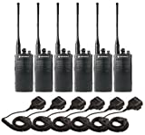6 Pack of Motorola RDU4100 Two way Radio Walkie Talkies with Speaker Mics