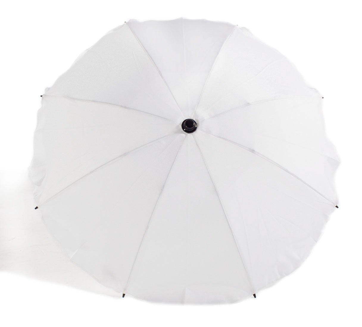 Light Grey Baby Pram Pushchair Sun Parasol//Universal Umbrella Shade Canopy