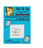 Little City Dogs BEEF FLAVORED Praziquantel Tapeworm Wormer Capsules for BIG Dogs (15 Capsules), My Pet Supplies