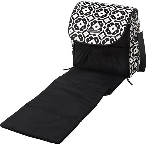 Petunia Pickle Bottom Boxy Backpack Diaper Bag in Licorice Blossom
