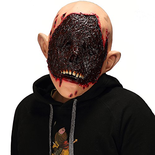 Mo Fang Gong She Halloween Scary Cosplay Props,The Walking Dead Horror Bloody Zombie Men's Mask -