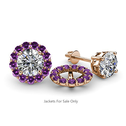 TriJewels Halo Jacket for Stud Earrings 0.78 ct tw to 0.82 ct tw in 14K Gold