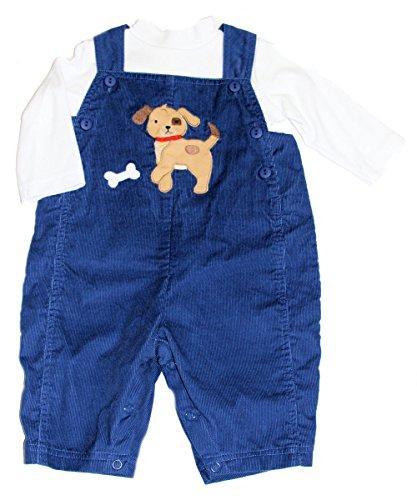 zuzu zu Baby-Boys Dog w/Bone Corduroy Overall and Long Sleeve Knit Shirt