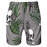 NUWFOR Men Casual 3D Graffiti Printed Beach Work Casual Men Short Trouser Shorts Pants(Z-Multi Color,US:S Waist7.6-31.5'')