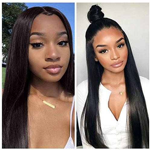(VSHOW Hair 13x6 Deep Part Lace Front Wigs Human Hair with Baby Hair Malaysian Straight Wigs 150% Density 22