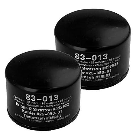 Oregon 83 - 013 Filtro de Aceite de Repuesto (2 Unidades) B & S ...