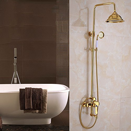 ZXY-Cold hot shower shower shower shower shower bathroom all copper hand-held Lift cold hot water tap bath