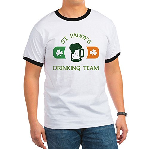 CafePress - St. Paddy's Drinking Team - Ringer T-Shirt, 100% Cotton Ringed T-Shirt, Vintage Shirt - Team Ringer T-shirt Drinking