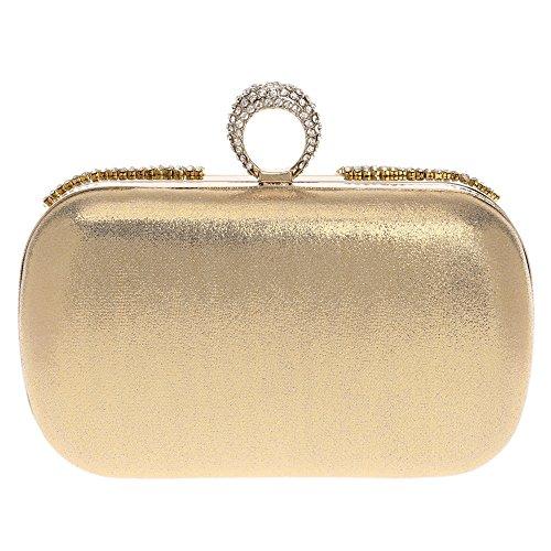 Bag Clutch Classic Beaded Ring Bag Handbags gold KYS Rhinestones Shoulder Clutch Diamonds Chain Buckle Women Wedding Party Evening twxH0gBdq