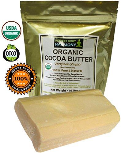 Raw beurre de cacao - CERTIFIED ORGANIC, Pure, & Natural - non raffiné et non désodorisée - Simply The Best ~ maintenant vous pouvez acheter ce fantastique Premium Quality & parfumée au beurre de cacao! * INTRO SPECIAL / Prix Hot! / * LIMITED QTYS Grand O