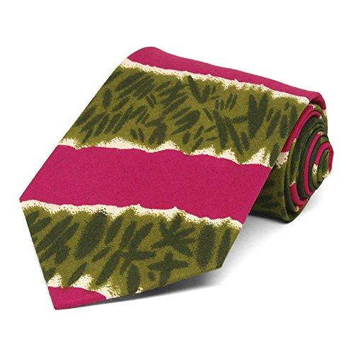 Print Tie Dye Tie - TieMart Men's African Tie Dye Print Necktie
