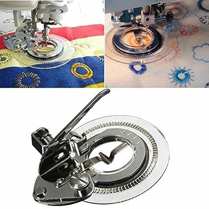 [Envio Gratis] Disco Flores de punto de prensatelas para máquina de coser accesorios para