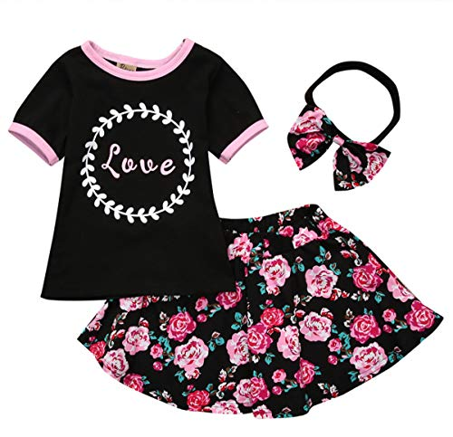 894a779c3 Summer Toddler Baby Girl Clothes Watermelon Sleeveless Shirt Tank Top and  Shorts Bowknot Headband Short Outfit