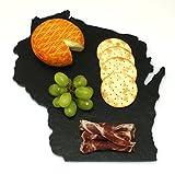Wisconsin Black Slate Cheese Board