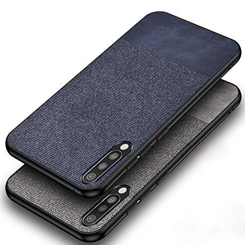 mobistyle soft fabric & leather hybrid protective back case cover