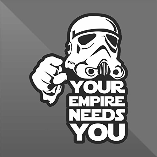 Sticker Star Wars Your Empire Needs You Funny - Decal Cars Motorcycles Helmet Wall Camper Bike Adesivo Adhesive Autocollant Pegatina Aufkleber - cm 10