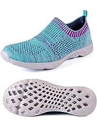 Women's Fashion Flyknit Slip On Sports Sneakers Flexible...
