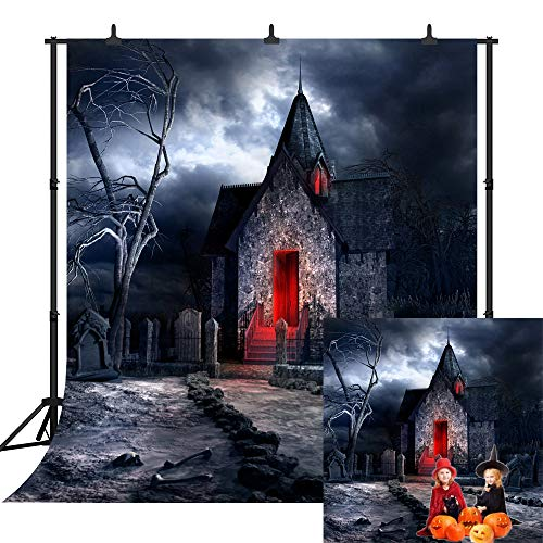 (DePhoto 10X10FT(300X300CM) Halloween Theme Pumpkin Lantern Customized Seamless Vinyl Photography Backdrop Photo Background Studio Prop PGT233B)
