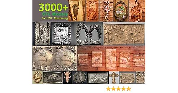 3D STL CNC Model Decor #1080 file for CNC Router Carving Machine Printer Relief Artcam Aspire Cut3d