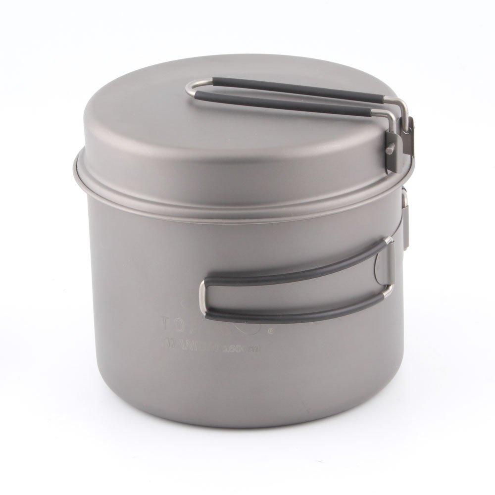 TOAKS titanio Camping olla de ollas con sartén 1600ml