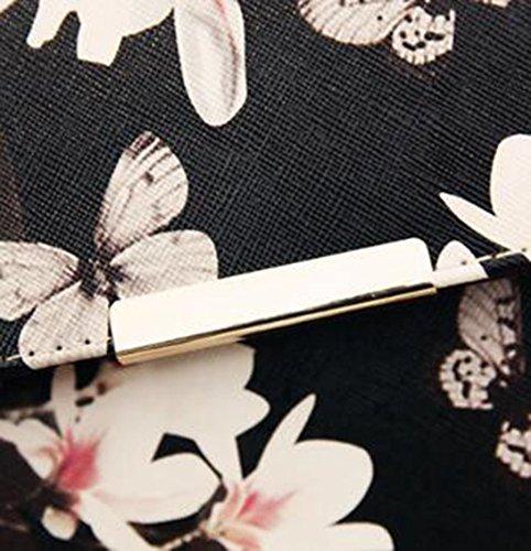 Messenger Mini Serrure Clé À Sac Sac Papillon White Black Impression Styling Boucle Paquet Fleur À Bandoulière Mode Partie Sac NEIYI Paquet Sac Main Sac Spray Casual TX Tendance qBvAUxwR