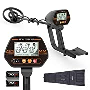 """#LightningDeal Metal Detector, 3 Modes Adjustable Waterproof Detectors (24""""-45"""") with Larger Back-lit LCD Display, 3 Audio Tone & DISC Mode - Carrying Bag and Batteries Included, Easy to Operate for Adults and Kids"""
