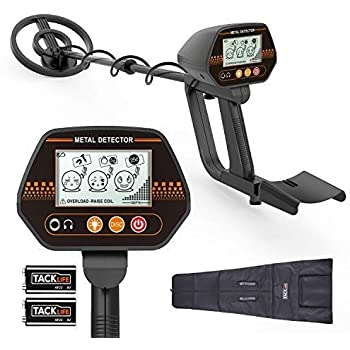 Metal Detector, 3 Modes Waterproof Metal Detector with Larger Back-lit LCD Display and Distinctive Audio Prompt & DISC Mode - Carrying Bag & Batteries ...