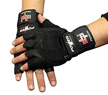 Amazon Com Perrini Black Leather Working Out Weight Lifting Finger
