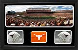 Encore Select 657-23 NCAA Texas Longhorns Custom Framed Sports Memorabilia with Two Mini Helmets Photograph and Name Plate