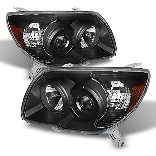 (ACANII - For Black 2006-2009 Toyota 4Runner Replacement Headlights lamps 06-09 Driver + Passenger)