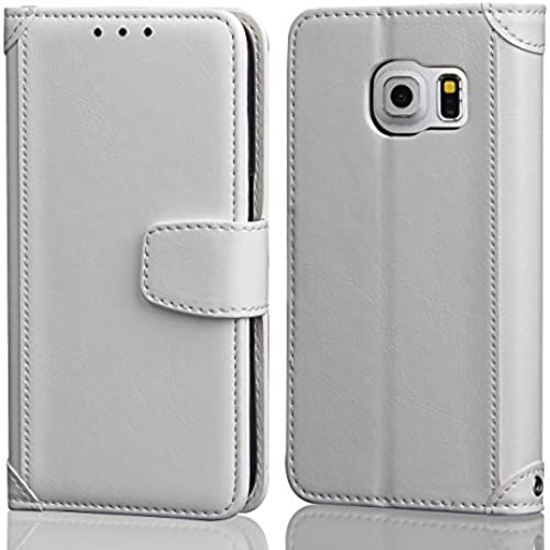S7 Edge Case, APLUS Galaxy S7 Edge Wallet Case PU Leather Flip Wallet Case Cover for Samsung Galaxy S7 Edge (White) Sales