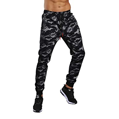 d3f580426d8 Image Unavailable. Image not available for. Color  Men s Casual Camo Jogger  Cargo Pants Workout Sports Activewear Gym Sweat Pants