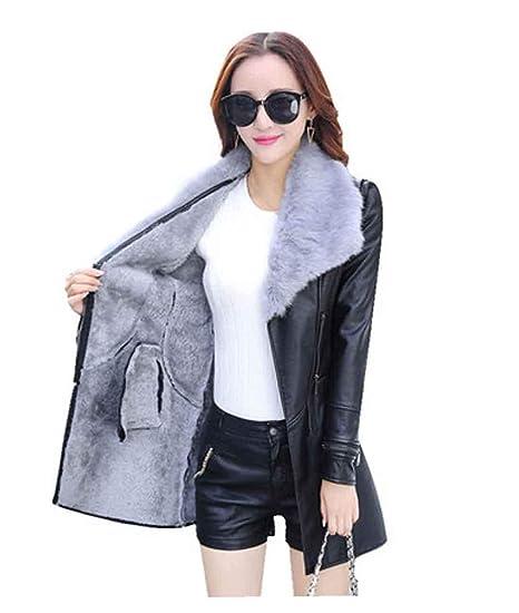cappotto donna in camoscio nero