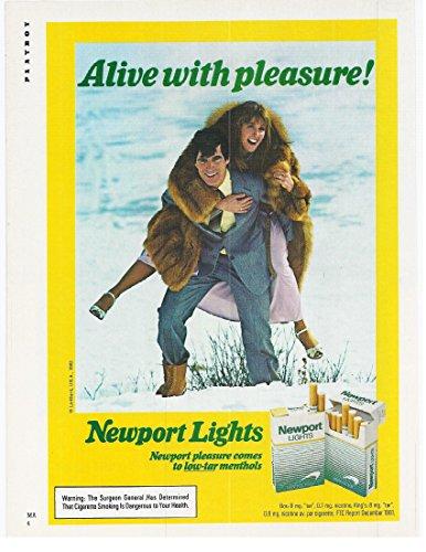 1982 Vintage Magazine Advertisement Newport Lights
