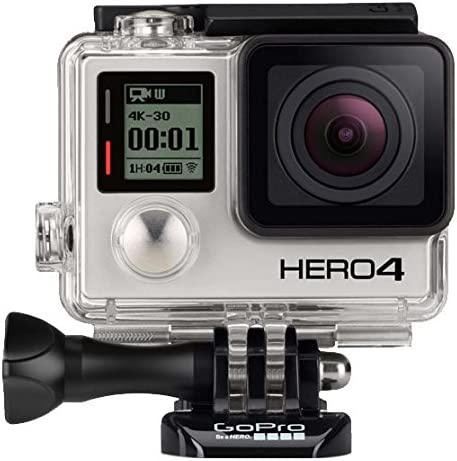 GoPro Hero4 Black - Hero4 Black Camera - StandardHousing131'(40m) - Skeleton Backdoor - Rechargeable Battery - Curved Adhesive Mount - Flat Adhesive Mount - Quick Release Buckles - 3-Way Pivot Arm - USB Cable