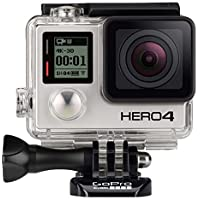 GoPro HERO4 Silver Waterproof Action Camera (Black) - Refurbished