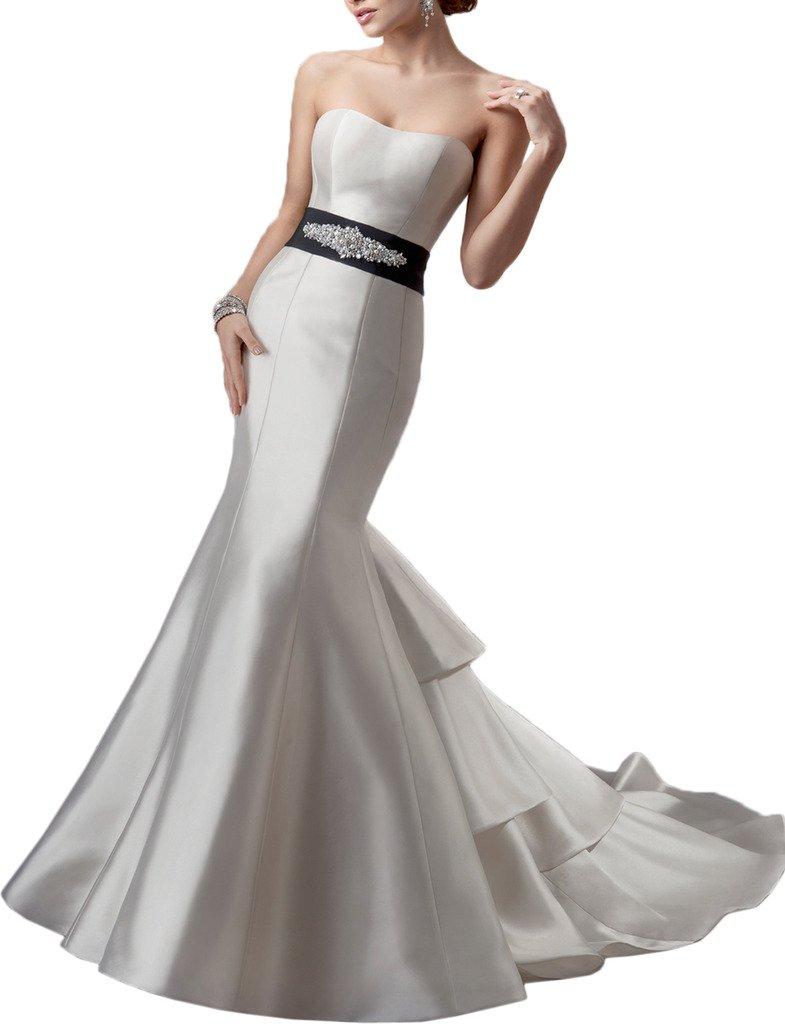 (ウィーン ブライド)Vienna Bride ウェディングドレス 花嫁ドレス ロングドレス タイトドレス サテン 大胆背中開き 超セクシー-9-ホワイトA B01N20YX0A 17W|ホワイトJ ホワイトJ 17W