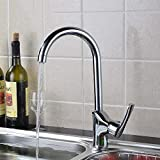 Decck 360°Rotate Kitchen Hot&Cold Faucet 304 Stainless Steel Sink Wash Tap Deck Mounted Basin Mixer Tap